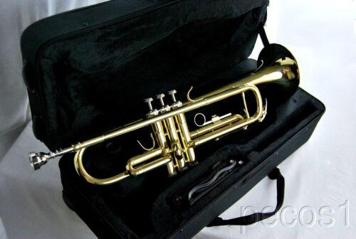 TRUMPETS-NEW INTERMEDIATE GOLDEN BRASS MARCHING CONCERT BAND TRUMPET-B FLAT