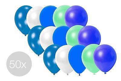 50x Luftballons Ballons Luftballon Luft und Helium blau, himmelblau uvm.