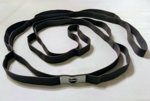 Great Cove 6.5 ft Yoga Stretching Strap for Physical Therapy with Loops - Gray