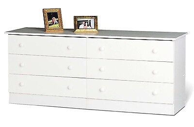كومودينو جديد Home Furniture – 6 Drawer Bedroom Dresser – White – NEW