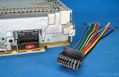 BOSS PLANET AUDIO 16-PIN CD DVD RADIO PLUG STEREO WIRE HARNESS BACK on