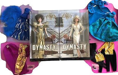 NASTY 80s LADIES Barbie LOT_DYNASTY ALEXIS KRYSTLE 4 Oscar De La Renta Fashions