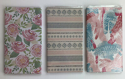Jot Sticky Notes Lot Of 3 Trifold Folios Memos Notes Flags Floral Textile Paint