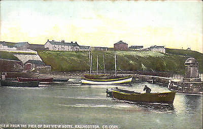 Ballycotton, Co. Cork. View from the Pier of Bay View Hotel in Emerald Series.