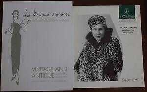 2x Vintage Clothing auction catalogues incl. The Banana Room North Willoughby Willoughby Area Preview