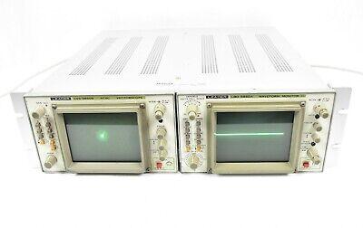 Leader Ntsc Vectorscope Lvs-5850b Waveform Monitor Lbo-5860a Combo Rack Unit