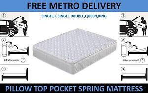 Quality Mattress - Pocket Spring/Pillow Top/3 Zone-FREE DELIVERY* Virginia Brisbane North East Preview