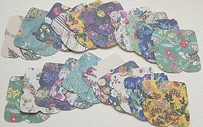 20 Mini/Tiny Envelopes Vintage Botanical  Designer Cardmaking Crafts Fairy DIY