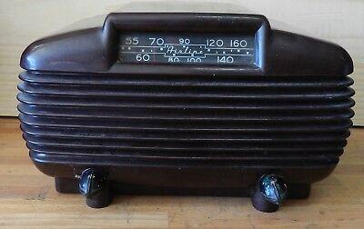 1951 Vintage Línea Aérea Tubo Baquelita Radio Modelo 15gcb-1583 en Trabajo, usado segunda mano  Embacar hacia Spain
