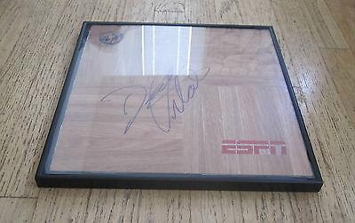 Espn   College Basketball Hall Of Fame Dick Vitale Signed   Framed Floor Tile