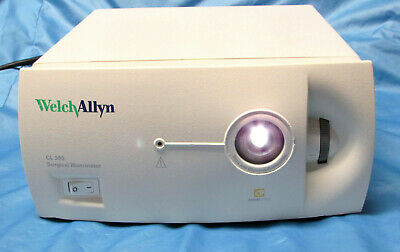 Welch Allyn Cl 300 Surgical Illuminator Light Source Endoscope Storz Head Xenon