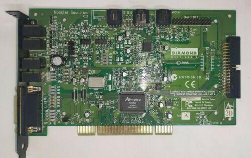 Diamond Monster SQ2200 Aureal Vortex2 AU8830 PCI Sound Card