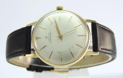 Zenith Automatik Armbanduhr Herren 18 Karat 750er Gold Swiss Made