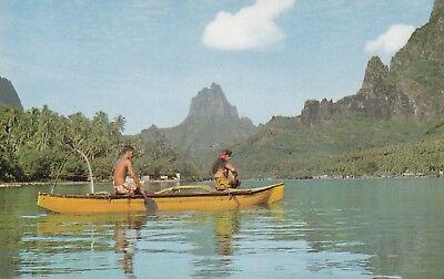 """*Island Postcard-""""A Promenade in Canoe at Cook's Bay"""" (U1-889)"""