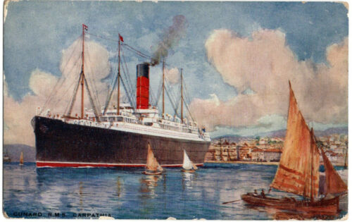 RMS Carpathia Postcard White Star Line And Titanic Interest