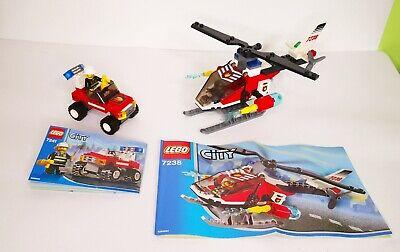 LEGO CITY 7238 + 7241 ELICOTTERO E AUTO POMPIERI CON I 2 MANUALI COMPLETI 100%