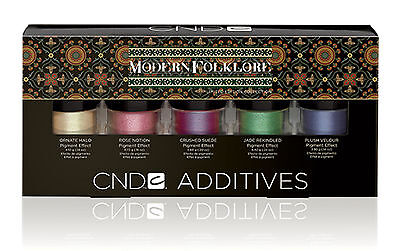 CND Creative Nail MODERN FOLKLORE Additives Nail art Kit Pigments Effects NO BOX