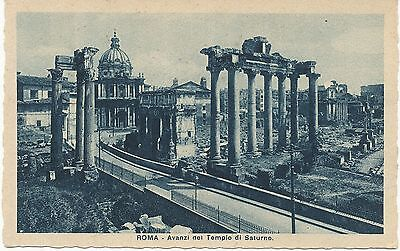 ALTE AK ROMA ROM VOR 1945 AVANZI DEL TEMPIO DI SATURNO