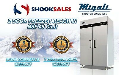 Migali C-2f 2 Door Freezer Reach In Nsf49 Cu.ft To Commercial Address