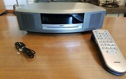 MINT Bose Wave Radio iPhone/iPod CD Player/Alarm Clock Graphite With Extras!