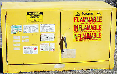 1 Used Justrite 25802 17 Gallon Flammable Liquid Storage Cabinet Make Offer