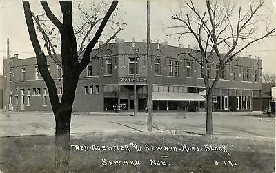 Seward, NEBRASKA-Goehner Department Store-Street Scene RPPC Photo Postcard NE