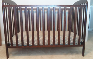 Wooden Crib (with optional included mattress)