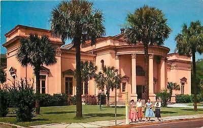 Charleston South Carolina~Pink Charleston Museum~1950s Fashion Girls at Bus Stop