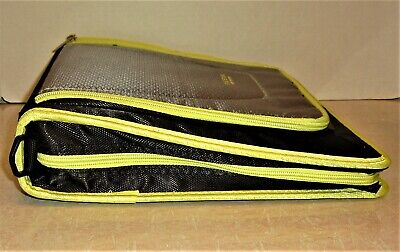 Five Star 3 Ring Binder 2 Capacity Black And Green Zippers Carrying Handle