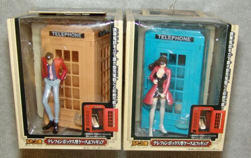 NEW Banpresto Lupin The 3rd TELEPHONE BOX Set of 2 blue/yellow  USA SELLER