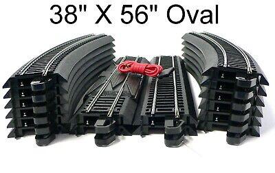 HO Scale Model Railroad Trains Layout Bachmann EZ Track Steel 38 X 56 Oval Lot