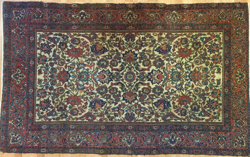 Fantastic Floral - 1900s Antique Oriental Rug - Handmade Carpet - 4.6 X 7.3 Ft.