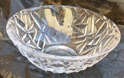 Tiffany   Co 6  Crystal Rock Cut Bowl
