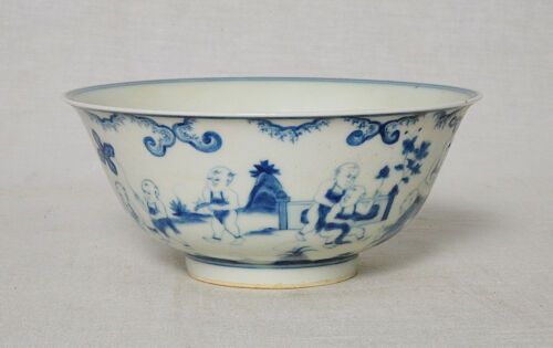 Chinese  Blue and White  Porcelain  Bowl  With  Mark       M2752