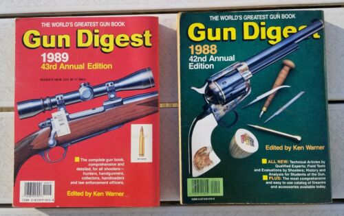Lot of 2 Gun Digest Paperback Books VTG 1988 42nd & 1989 43rd Annual Editions