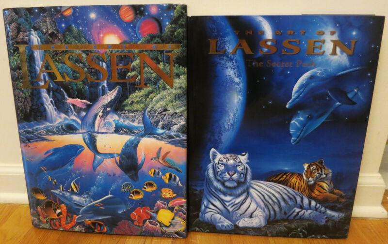 #M1 [Lot of 2] Art of Christian Riese Lassen Secret Path Hardback Book Ocean EUC