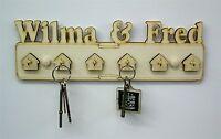 Six Hook Pesonalised Wooden Key Holder Key Hanger Wedding Gift Household B6 -  - ebay.co.uk