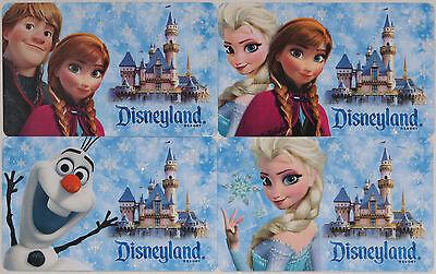 4 Diff. DISNEYLAND Passport FROZEN Gift Cards 2015: Elsa, Anna, Olaf & Kristoff