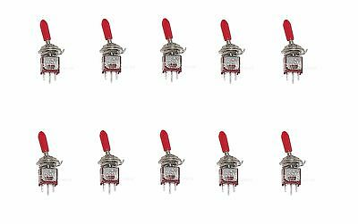10 Onon Spdt Subminiature Toggle Switch Mini With Red Handle