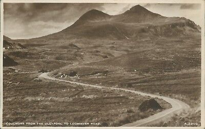 Real photo Coulemore from ullapool to lochinver road 1945 JB white
