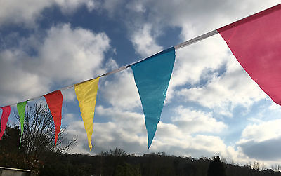 Carnival Bunting - Large multi colour triangular fabric flags or sample