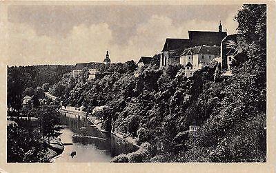 LAZNE BECHYNE CZECHOSLOVAKIA PANORAMA PHOTO POSTCARD 1940s