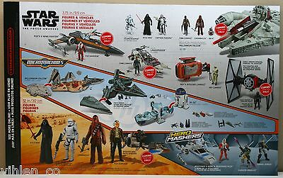 STAR WARS HASBRO THE FORCE AWAKENS TOYS R US AVAILABLE TOYS POSTER FORCE FRIDAY
