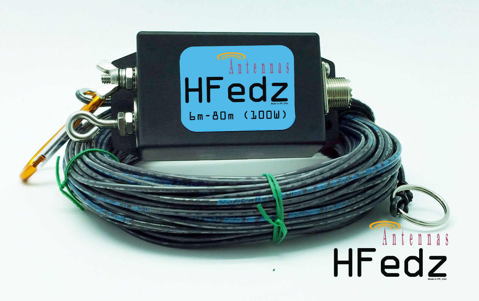 Hfedz End Fed 6m 80m Hf Antenna Ham Radio Wundr Shop Pin Hy Gain Rotor Rotator Control Unit For The Cd 45ii Iv