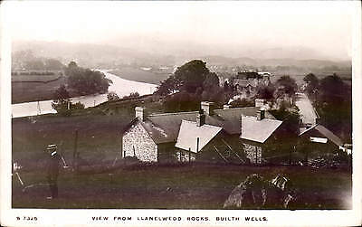 Builth Wells. View from Llanelwydd Rocks # S 7325 by WHS Kingsway.