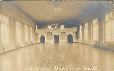 C1906 Rppc  Interior Of Ball Room  Dimeling Hotel  Clearfield Pa Unposted
