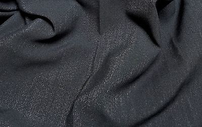 Black Shimmer Polyester Cotton Blend Fabric 62 inch wide 1 yard