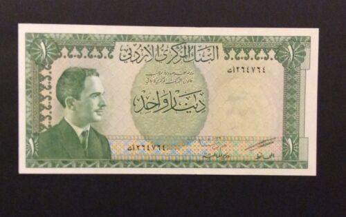 Jordan 1 Dinar 1959 Banknote King Hussein UNC Paper Currency