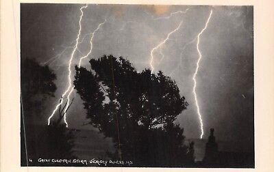 POSTCARD  CHANNEL  ISLES   JERSEY   Electric  Storm   1931   II