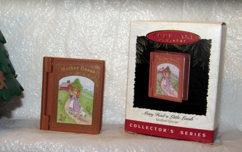 Hallmark Mary Had a Little Lamb Mother Goose Book Ornament 1996